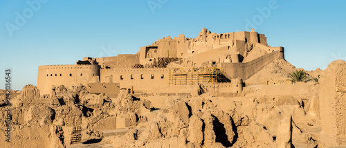 Fotografering Panoramic view of Arg-e Bam - Bam Citadel, near city of Kerman, rebuilt after ea