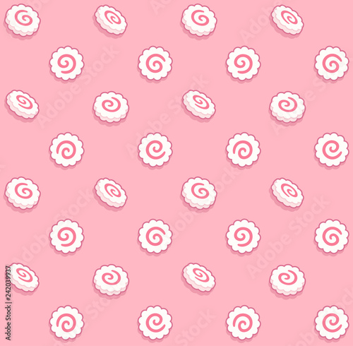 Narutomaki seamless pattern Wallpaper Mural
