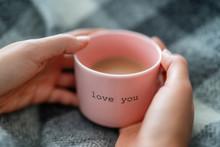 Winter Warm Coffee Cup Woman R...