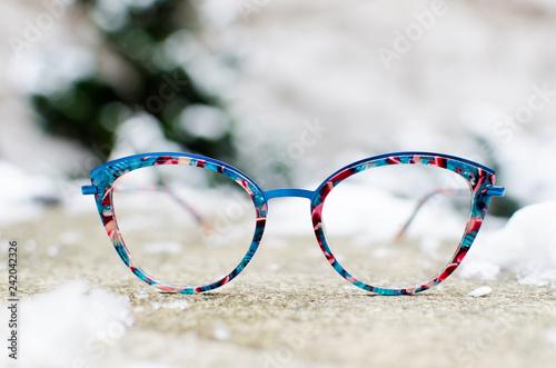 Trendy eyeglasses Fototapeta