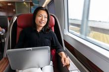 Business Trip Asian Woman Work...