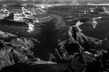 Grand Canyon In Winter B&W