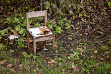 Broken And Abandoned Chair In ...