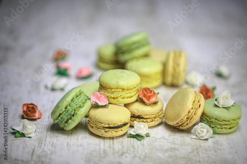 Photo  macaron à la pistache