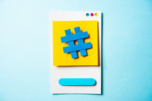 Hashtag Symbol Post Note With ...