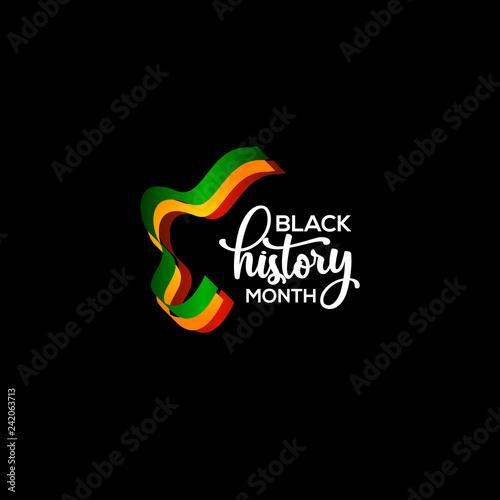 Foto  Black History Month Vector Template Design Illustration