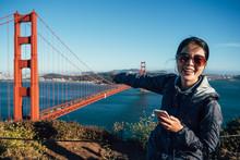Golden Gate Bridge Asian Girl ...