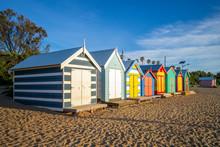 Brighton Bathing Boxes In Melbourne, Australia