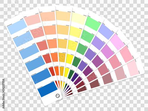 Color palette guide. Book for designer, photographer and artists Fototapeta
