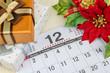 カレンダー 12月 十二月 クリスマスイメージ