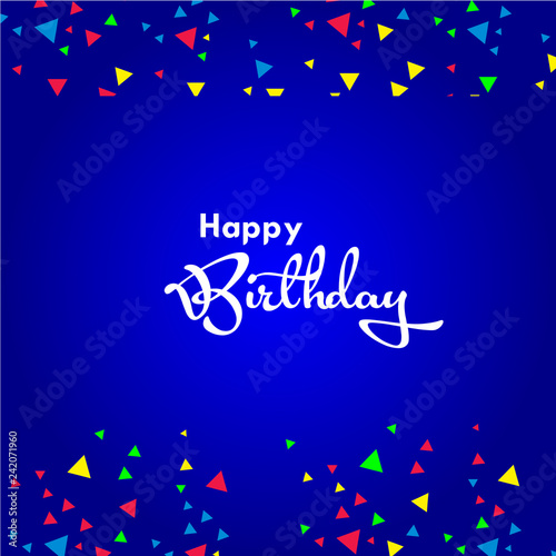 Photo  Happy Birthday Vector Template Design Illustration
