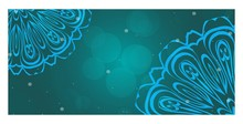 Decorative Banner With Round Mandala Decoration. For Design, Ad, Web. Vector Illustration