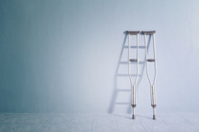 Success Concept With Crutches ...