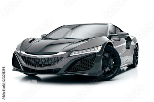 Stampa su Tela 3d render of beautiful super sport car