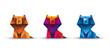 lwy origami wektor