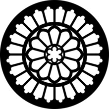 Byland, Abbey, GB, Rose Window