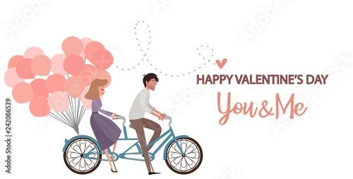 Fotografie, Obraz  Valentine's day, romantic illustration with people