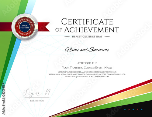 modern certificate template with elegant border frame