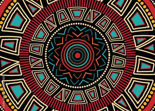 Photo Aboriginal art vector background