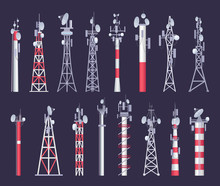 Wireless Tower. Tv Radio Netwo...