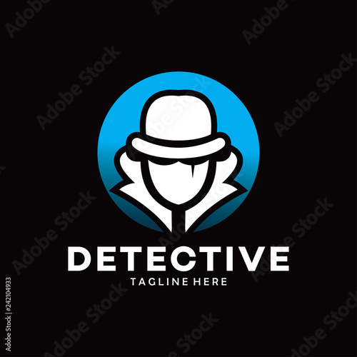 Fotografía  detective logo with hat