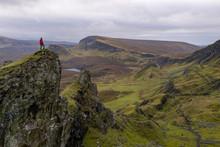 Single Hiker On Top Of Mountai...