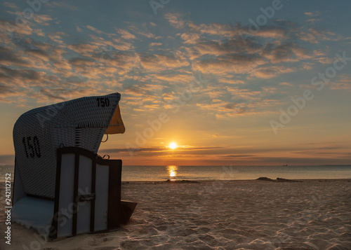 Fotografia, Obraz  Strandkorb - Sonnenaufgang