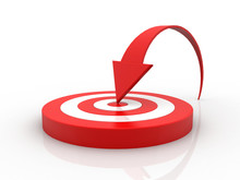 3d Illustration Target With Arrows