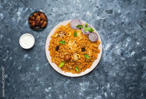 Saudi Arabian Kabsa (Chicken and Rice).