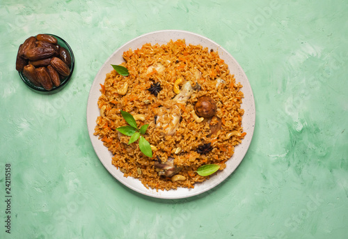 Chicken Machboos (Bahraini Spiced Chicken and Rice).