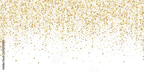 Obraz Gold stars luxury sparkling confetti. Scattered sm - fototapety do salonu