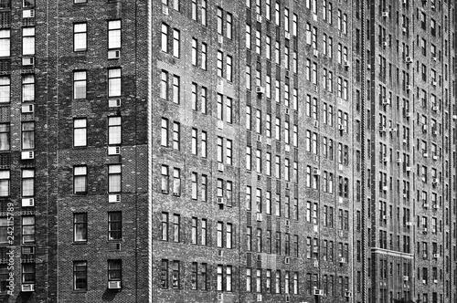 Deurstickers Amerikaanse Plekken Old bricks building facade, Manhattan, New York City, USA