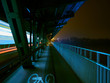 High speed tram on a bridge