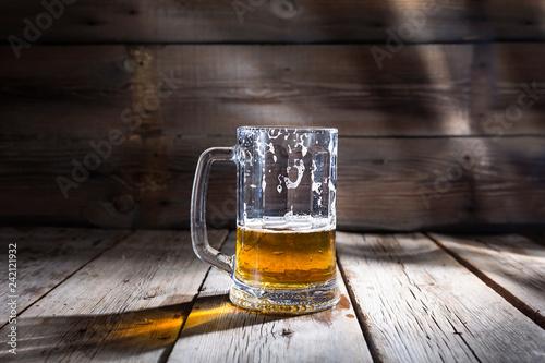 beer, glass, mug, golden, alcohol, drink, copy space