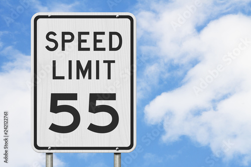 Cuadros en Lienzo  US 55 mph Speed Limit sign