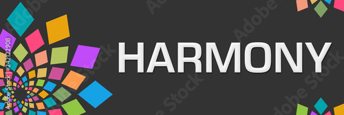 Fotografía  Harmony Dark Colorful Circular Left