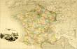 canvas print picture - Karte Frankreich Landkarte um 1870 historisch
