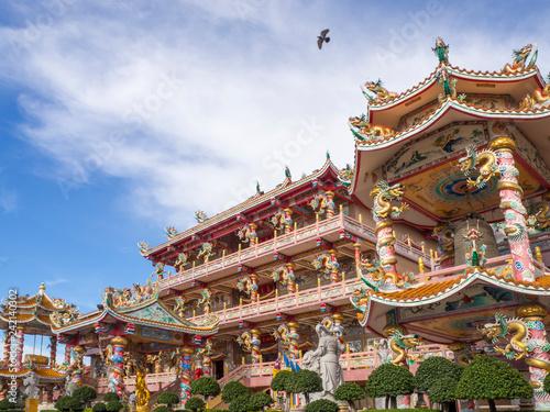 Fotografie, Obraz  Chinese Temple, Buddhist shrine in Chon Buri