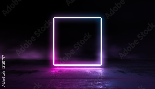 Photo  Glowing lines vibrant colors abstract background