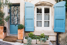 Blue French Windows And Doors ...