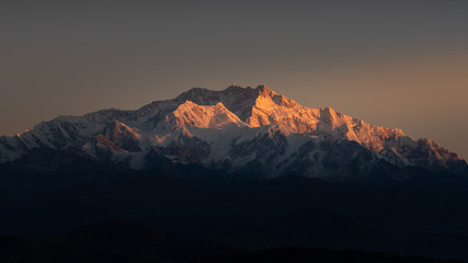 Kanchenjunga is the third highest mountain in the world. It lies between Nepal and Sikkim, India.