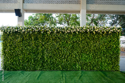 wedding backdrop with flower and decoration Fototapete