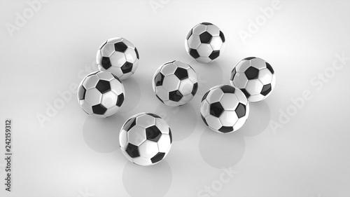 サッカーボール 複数