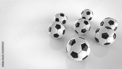 サッカーボール 複数 右
