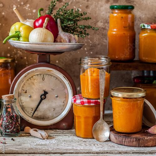 Canning Vegetable Spread (Ikra)