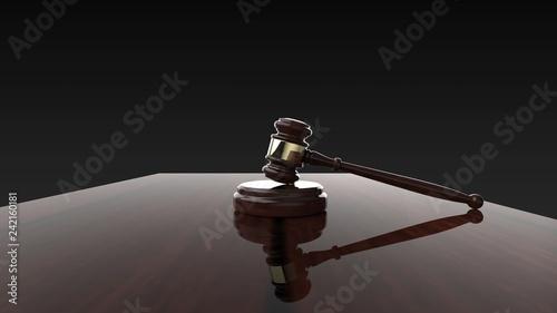 Valokuva  裁判 小槌 ジャッジガベル 黒背景