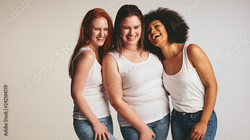 Canvas-taulu Diverse group of women laughing together
