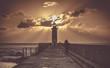 Sonnenuntergang Leuchtturm Porto / Portugal