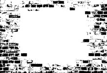 Vector Of Grunge Brick Wall With Blank Copyspace