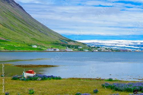 Fotografia  View of Isafjordur town